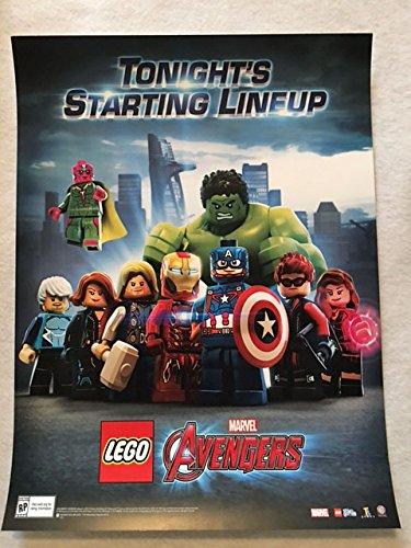"LEGO MARVEL AVENGERS - 12""x16"" Original Promo Videogame Poster NYCC 2015"