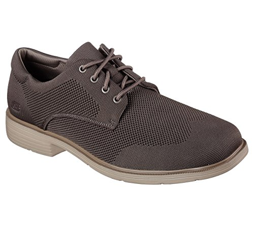 Skechers Heren Caswell Aleno Oxford Taupe