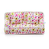Lovely Miniature Stylish Barbie Sized Dollhouse Flower Print Furniture Sofa Couch Pillow Cushions