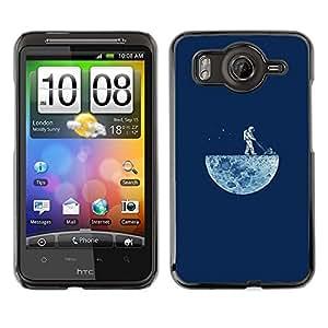 EJOY---Cubierta de la caja de protección la piel dura para el / HTC G10 / --DIVERTIDO LAWNING LA LUNA