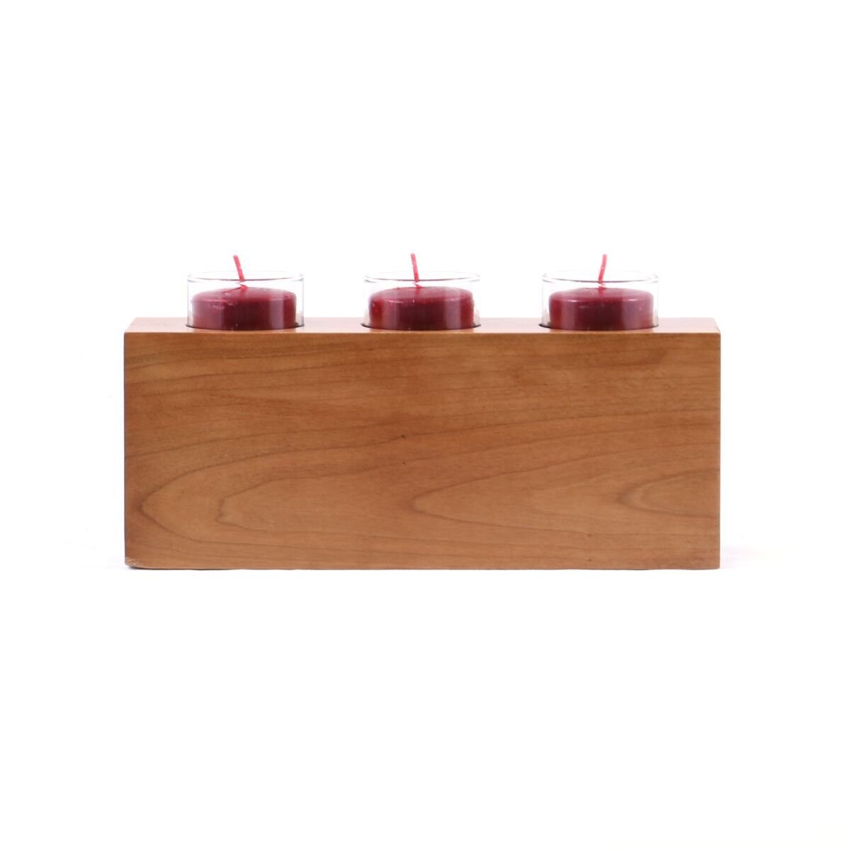 Personalized wedding anniversary candle holder for him her engraved cherry wood engagement ideas for boyfriend or girlfriend One FAITH HOPE LOVE 10'' L x 4'' H by LifeSong Milestones (Faith Hope Love) by LifeSong Milestones (Image #2)
