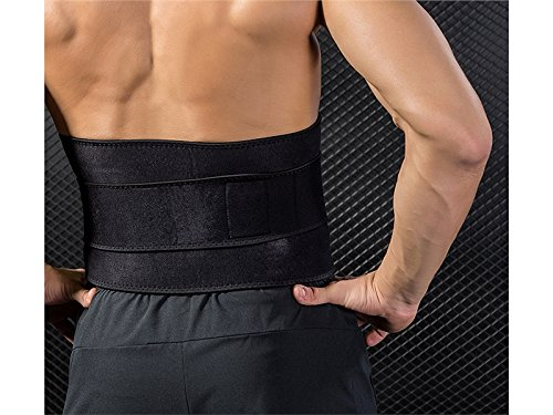 Huasen Sports Safe Guard Waist Trimmer Sweat Belts Adjustable Slimming Belt for Women and Men_Black Cycling Sports by Huasen (Image #4)