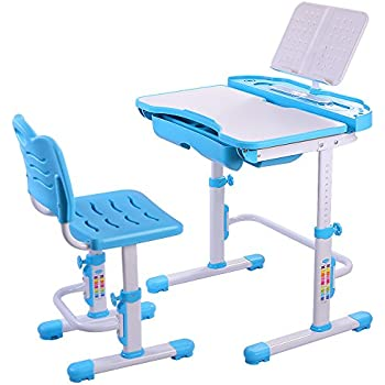 Amazon Com Nidouillet Children S Desk And Chair Set