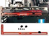 EZDIY-FAB Graphics Card Brace Support. A Video Card Holder, GPU VGA brace, for custom Desktop Pc Gaming. a GPU stand case mod- 3mm Aluminum-Red