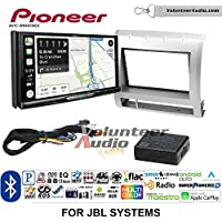 Volunteer Audio Pioneer AVIC-W8400NEX Double Din Radio Install Kit with Navigation, Apple CarPlay and Android Auto Fits 2005-2011 Toyota Tacoma with Amplified System (Silver)