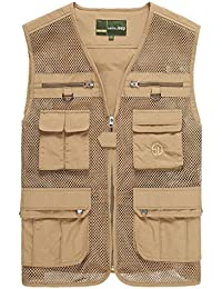 Men's Plus Big and Tall Fishing Photographer Mesh Vest Outdoor Waistcoat