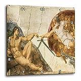3dRose Creation of Adam by Michelangelo Buonarroti – Wall Clock, 13 by 13-Inch (dpp_127088_2)