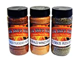 BBQ BROS RUBS {Happy Hour Style} - Ultimate Barbecue Spices Seasoning Set - Use for Grilling, Cooking, Smoking - Meat Rub, Dry Marinade, Rib Rub - Backed with 100% Customer Guarantee