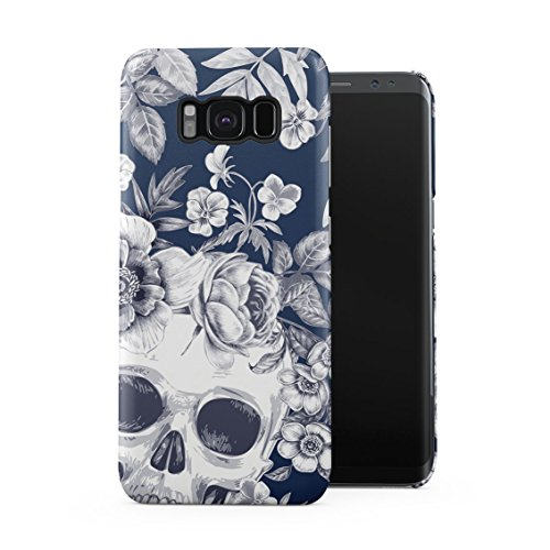 Tropical Floral Dead Pirate Skull Indie Hype Hipster Tumblr Plastic Phone Snap On Back Case Cover Shell for Samsung Galaxy S8