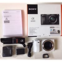 Sony Alpha a6000 Mirrorless Digital Camera Body Only (White) (Kit Box)