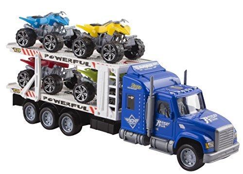 "Toy Truck Transporter Trailer Semi Truck 14.5"" Children"