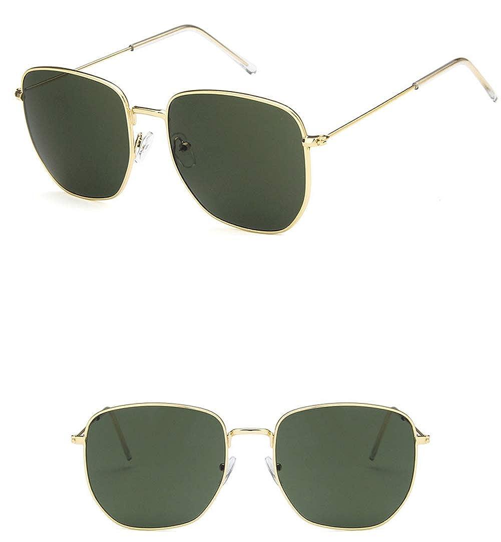 Unisex Sunglasses Fashion Gold Brown Drive Holiday Square Non-Polarized UV400