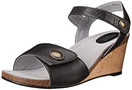 Sandal SoftWalk Jordan Women's Wedge Black BBCPX
