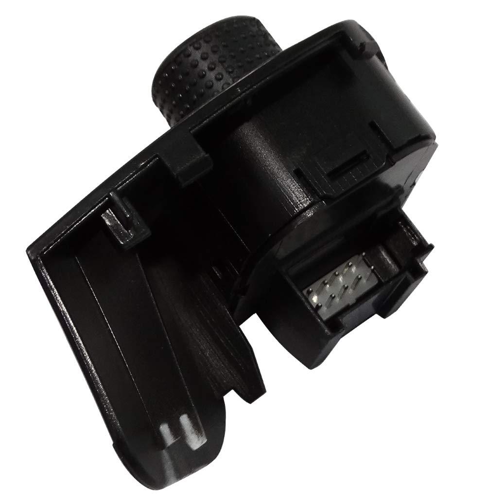 AERZETIX Pulsante per regolazione di specchietti retrovisori laterali C40890 compatibile con 6J1959565A