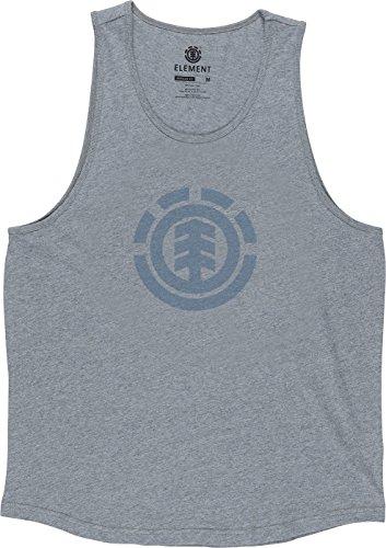 Element Men's Logo Push Knit Tank, Grey Heather, - Element Tank Top Cotton