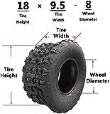MOTOOS Set of 2 18X9.5-8 All Terrain ATV UTV Tires