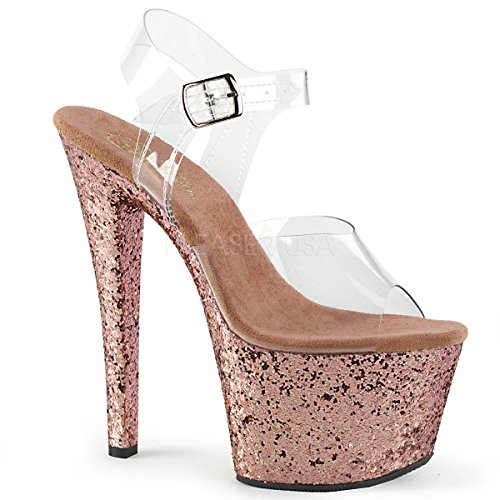 Sandali Pleaser Clr 801 Gold Glitter rose Donna Flamingo 11xg6E