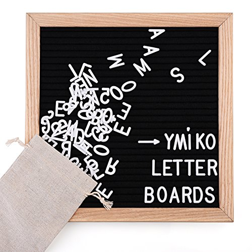 10x10 Changeable Letter Board, Black Felt Messa...