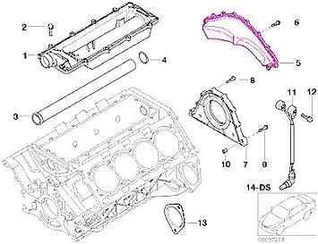 Amazon.com: BMW (02-10 8cyl) Engine Block Rear Cover GENUINE _ e53 e60 e63  e64 e65 e66 e70: AutomotiveAmazon.com