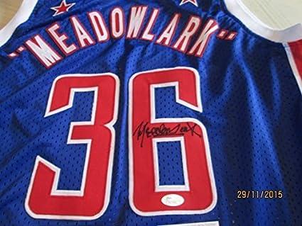 MEADOWLARK LEMON Signed Globetrotters Jersey -JSA Authenticated at ...