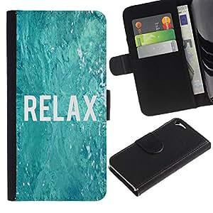 A-type (Relax Surfing Surfer Blue Water Ocean) Colorida Impresión Funda Cuero Monedero Caja Bolsa Cubierta Caja Piel Card Slots Para Apple Iphone 5 / 5S