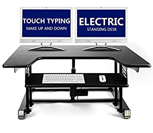 Amazoncom Electric Standing Desk Touch Typing Up DownHeight