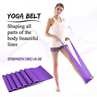 Hiltong Resistance Bands for Exercise Strecth Bands Therapy Fitness Equipment Set for Yoga,Pilates Training 6 Pack