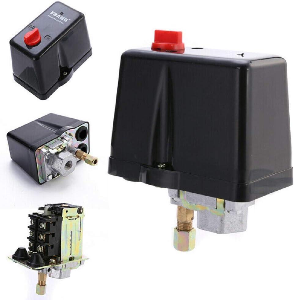 3 Phase 380V 400V 16A Druck Schalter 90-120 Psi Für Luftkompressor 3-12 Bar