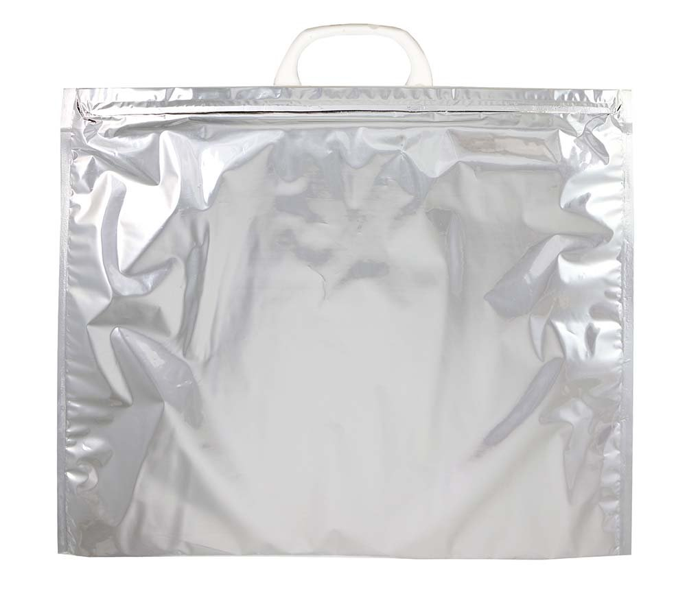 Large Jay Bags L310-NP Blank Reusable Insulated Shopping Bag Silver