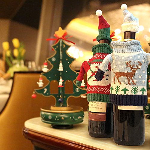 FEFEHOME Christmas Wine Bottle Cover Gift Warping Ugly Sweater (Set of 4) -(F) by FEFEHOME (Image #8)