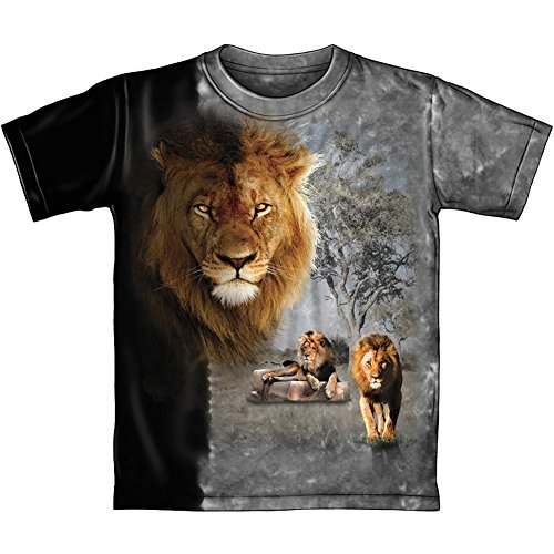 Lion Pride Tie Dye Adult Tee Shirt (Medium)