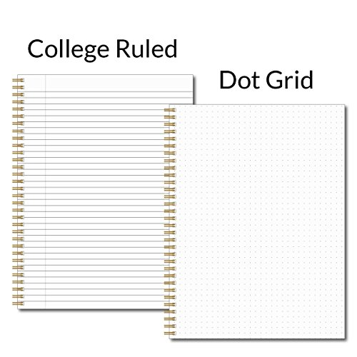 "Believe You Can Personalized Notebook/Journal, Laminated Soft Cover, 120 College Ruled or Dot Grid pages, lay flat wire-o spiral. Multiple sizes, 8.5"" x 11"", 5.5"" x 8.5"". Made in the USA Photo #2"