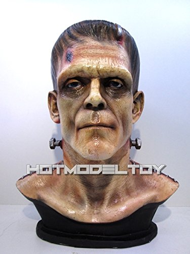 1/1 Frankenstein Horror Decor Show Classic Movie Unpaint Resin Bust by CustomMade
