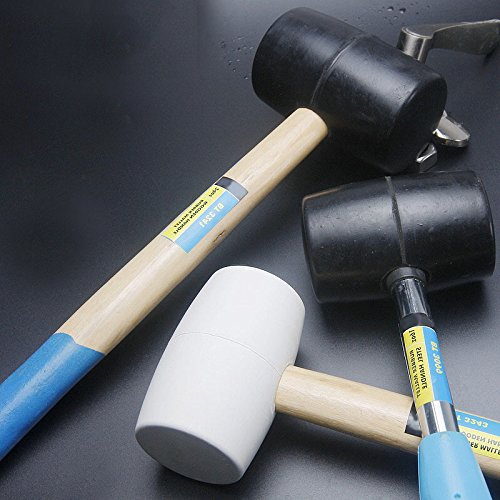 1Piece 8/12/16/24Oz Hammer Wood Handle Mallet Hammer Hand Hamers Tools Rubber-Headed Mallets White 8oz