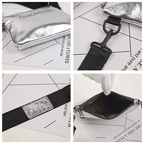 Lentejuela Transparente láser de gelatina de Carta Bolsa pequeña Mujer Contraste de Retro Costura Bolso Cuadrada Paquete impresión Color Tendencia Bolsa OvqU7xqn