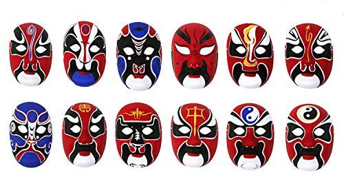 HorBous (3 Pack Chinese Peking Opera Mask, Party Mask, Halloween Mask,Wall Decoration Mask