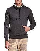 American Stitch Men's Ninja Cowl Neck Sweatshirt, Grey