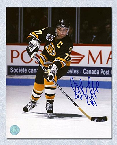 Autographed Bourque Photograph - Passing Up Ice 11x14 - Autographed NHL Photos