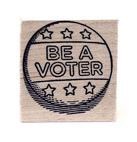 Be A Voter! Rubber stamps for your postcards and scrapbooking, perfect for writing to your reps or get out the vote by Mary Likes Postcards