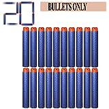Funbee Bullets for Toy Guns Set of 20Pcs - Plastic Foam Toy Bullet Dart Bullets for Nerf N-Strike Elite Guns Pack of 1
