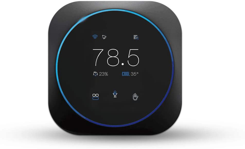 SASWELL Alpha Smart Thermostat with Voice Control, Connected Control Smart Phone Wi-Fi Thermostat, Touchscreen Color Display, DIY, Built-In Alexa. T18UTW-7-WIFI