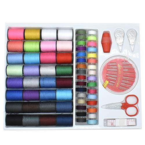(Renashed Sewing Kit with 100 Basic Sewing Accessories, 64 Spools of Thread Mini Sewing kit for Beginners,Traveller, Emergency, Whole Family to Mend and)