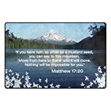 Abbylife Bible Quotes Verses If you have faith as small as a mustard seed 23.6''x15.7'' Non-slip Doormats Kitchen Home Decor
