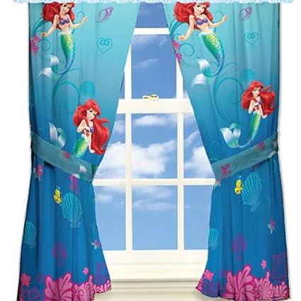 Disney Little Mermaid Curtains Panels Drapes Set Of 2