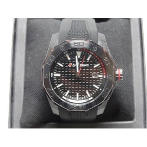 Audi Montre de sport d'origine, trois aiguilles, montre chronographe, noire