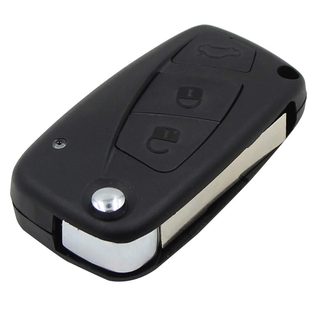 3 pulsanti per Fiat Punto Ducato Stilo Panda flip Custodia Flip remoto chiave Shell (Nero)