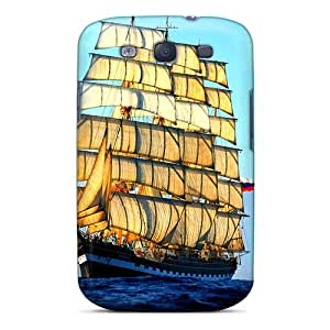High Impact Dirt/shock Proof Case Cover For Galaxy S3 (sailing Ship)