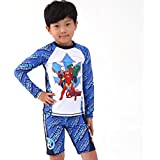 Marvel Boys Avengers Two-Piece Long Sleeve Swim Suit UPF 50+ Swimwear