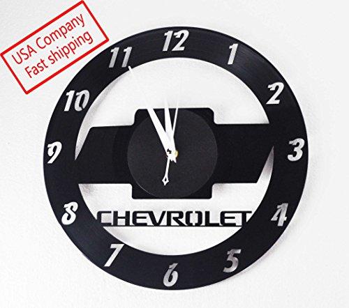 (Vinyl record clock Chevy inspired)