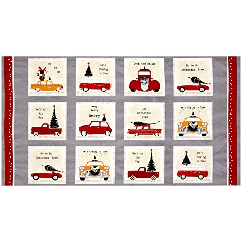 - StudioE Fabrics 0513896 DT-K Signature Around Town 23.5in Block Panel Red/Beige,
